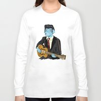 rockabilly Long Sleeve T-shirts featuring The Rockabilly Dog by Oliver Lake