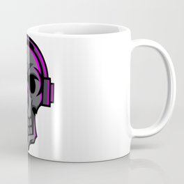 Black Skull Earphone Mascot Esport Logo Template Coffee Mug