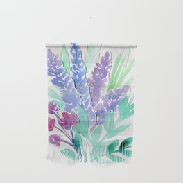 Lavender Floral Watercolor Bouquet Wall Hanging