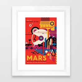 NASA Retro Space Travel Poster #9 Mars Framed Art Print