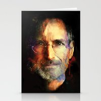 steve jobs Stationery Cards featuring Steve Jobs by turksworks