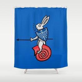 Snail Rider Bunny 2019 Shower Curtain