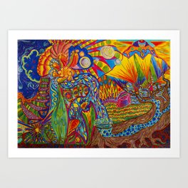 Psychedelia Art Print