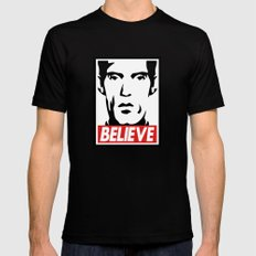 BELIEVE (Obey Giant X Twin Peaks) LARGE Black Mens Fitted Tee