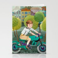 motorcycle Stationery Cards featuring Motorcycle by Rebekka Ivacson