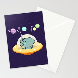 Astronaut elephant: Galaxy mission Stationery Cards
