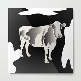 Country Cow Metal Print