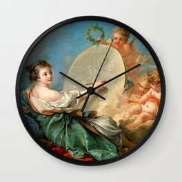 "François Boucher ""Allegory of Painting"" Wall Clock"