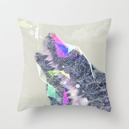 Cry Wolf Throw Pillow