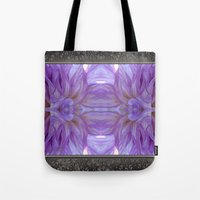 randy c Tote Bags featuring Mingus Randy Abstract by JMcCombie