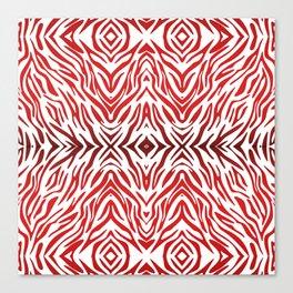 Red Zebra Pattern Canvas Print