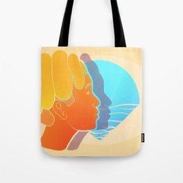 Blue summer sunset Tote Bag