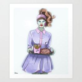Zombie drive-thru Art Print