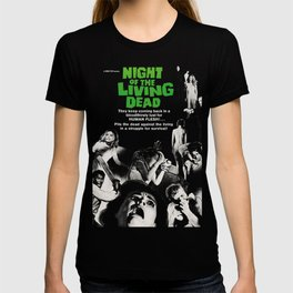 Night Of The Living Dead 1968, Vintage Movie Poster, Retro Halloween Zombie Idea T-shirt