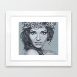 Miranda Flower Crown Framed Art Print