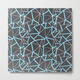 Ab 2 Repeat Blue Metal Print