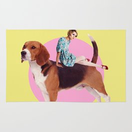 Twiggy and the Pups | Beagle Rug