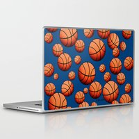 basketball Laptop & iPad Skins featuring Basketball by joanfriends