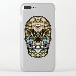 Say It with Skull and Hearts Clear iPhone Case