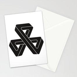 mobius triple strip - black Stationery Cards