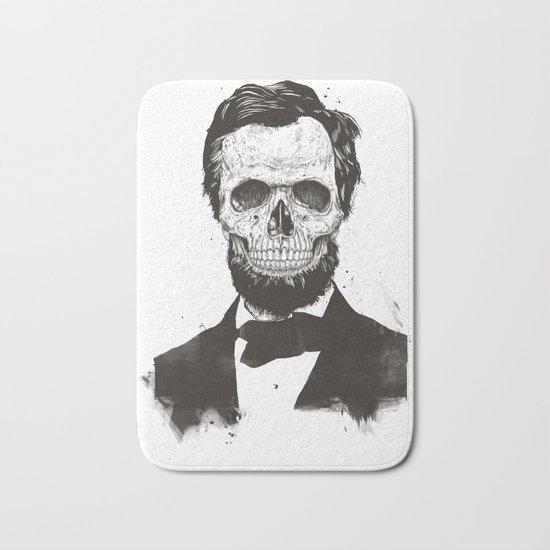 Dead Lincoln (b&w) Bath Mat