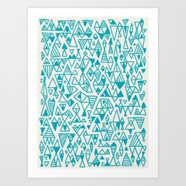 Abstract geometric pattern I Art Print