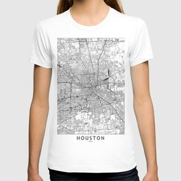Houston White Map T-shirt