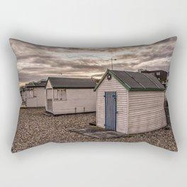Beach Huts At Sunset Rectangular Pillow