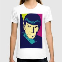 spock T-shirts featuring Spock Logic by Vee Ladwa