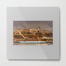 Buda Castle of Budapest  Metal Print