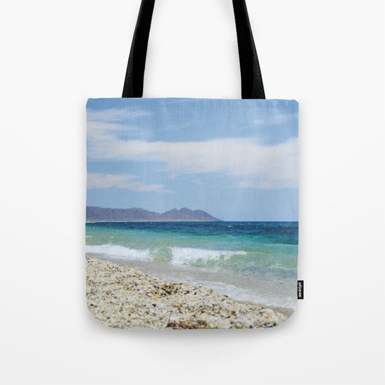 """Blue beach. Summer dreams"" Tote Bag"