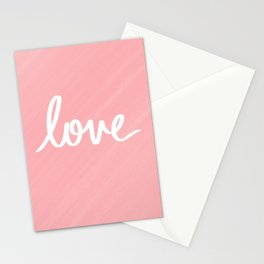 Love on Pink Stationery Cards