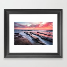 Pink Sunset Landscape Framed Art Print