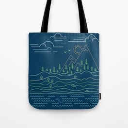 Outdoor solitude - line art Tote Bag