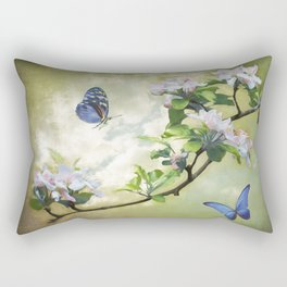 Butterflies and Apple Blossoms Rectangular Pillow