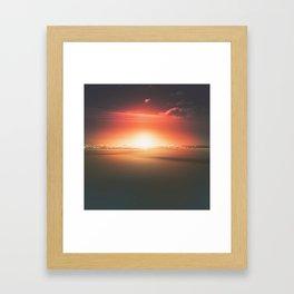 When the day breaks Framed Art Print