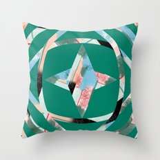 Abstract Brushstroke Circles Throw Pillow