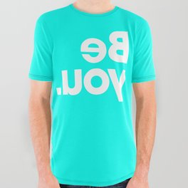 Be You - Aqua All Over Graphic Tee
