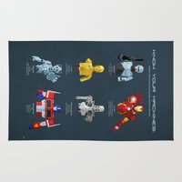 robocop Area & Throw Rugs featuring Know Your Machines by DWatson