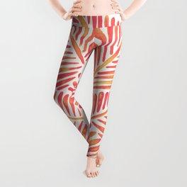 Tropical Banana Leaves – Pink & Peach Ombré Palette Leggings