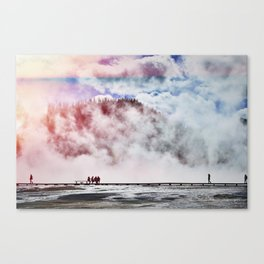 Hot Spring Silhouettes Canvas Print