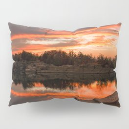 Sunset at Halibut Point Quarry Pillow Sham