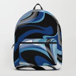 Liquify in Denim, Navy Blue, Black, White // Version 2 Backpack