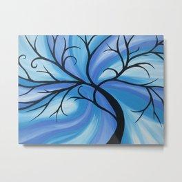 blue ocean art cool swirl sea abstract beach art cool water wave waves designs turquoise  Metal Print