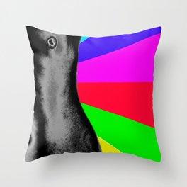 Body with Rainbow Throw Pillow