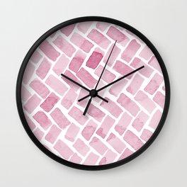 pink pavement Wall Clock