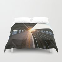 jewish Duvet Covers featuring The light at the end of the tunnel by Brown Eyed Lady
