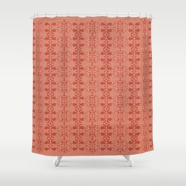 red retro pattern Shower Curtain