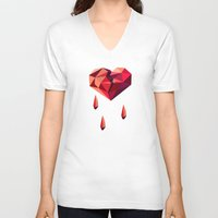 vector V-neck T-shirts featuring Heart vector by Tony Vazquez