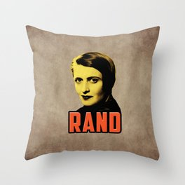 Ayn Rand Throw Pillow